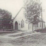The original frame building which housed Woodland Christian Church was dedicated on November 20, 1908.